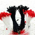 Flower stamen, black, Pinkish red, 320 pieces [approximate], [ST1200]